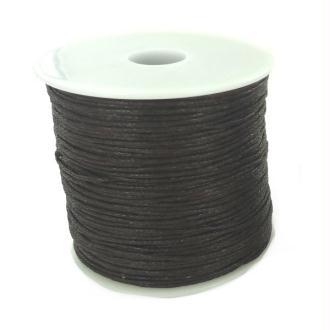 Bobine de fil en coton ciré Brun - 100 mètres - diam  01 mm