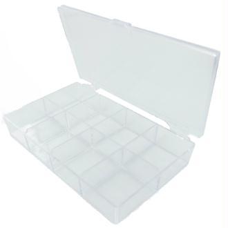 Boîte de rangement à 8 cases en plexi - L : 135 x l : 80 x h : 25 mm
