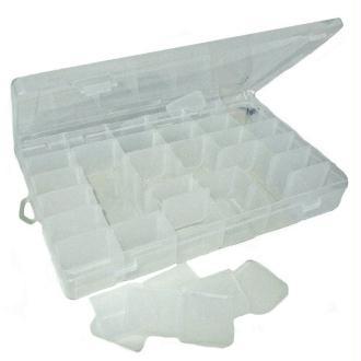Boîte de rangement à multi cases modulables en plastique