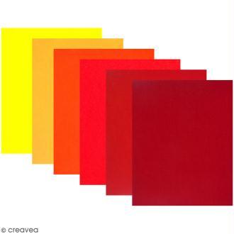 Feutrine 1 mm - Passion - 24 x 30 cm - 6 coupons