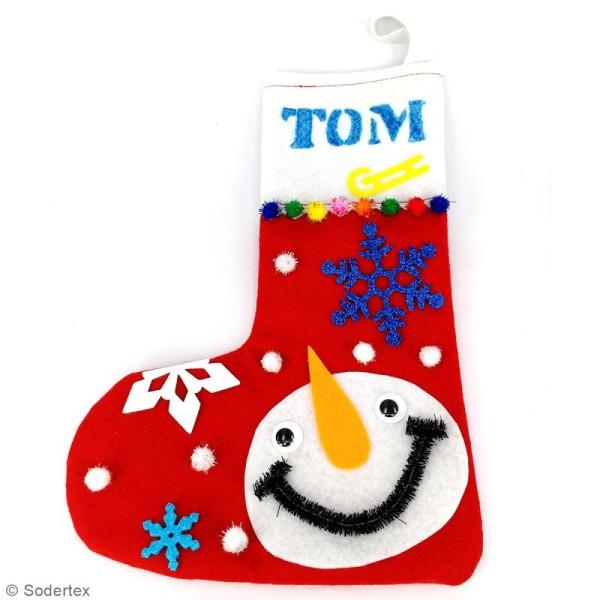 Lot de chaussettes de Noël en feutrine 1 mm - 20 x 30 cm - 10 pcs - Photo n°3