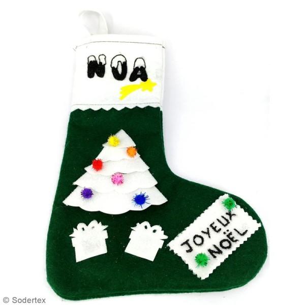Lot de chaussettes de Noël en feutrine 1 mm - 20 x 30 cm - 10 pcs - Photo n°4