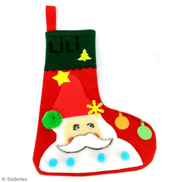 Lot de chaussettes de Noël en feutrine 1 mm - 20 x 30 cm - 10 pcs - Photo n°5