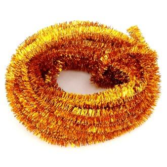 Echeveau de chenille pailletée - Doré - 10 m x 6 mm