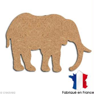 Eléphant en bois 15 cm