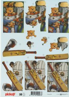 Feuille 3D à découper A4 Ours Cricket Jeu