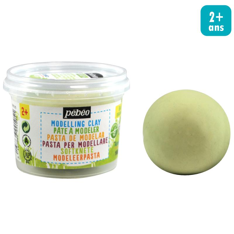 Pâte à modeler - Vert anis - pot 100 g - Photo n°2