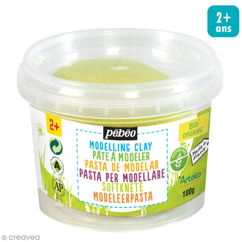 Pâte à modeler - Vert anis - pot 100 g - Photo n°1