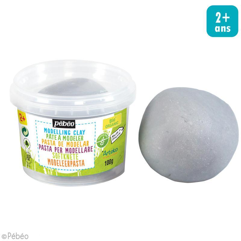 Pâte à modeler - Gris rocher - pot 100 g - Photo n°2