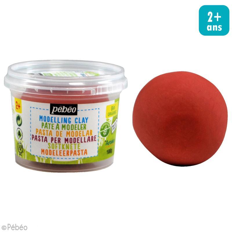 Pâte à modeler - Rouge papaye - pot 100 g - Photo n°2