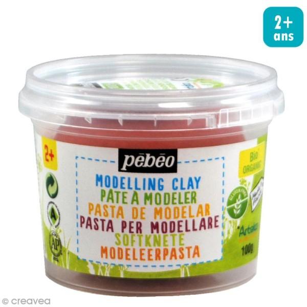 Pâte à modeler - Rouge papaye - pot 100 g - Photo n°1