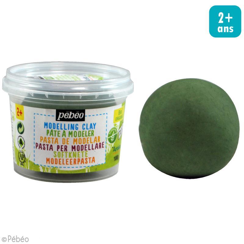 Pâte à modeler - Vert émeraude - pot 100 g - Photo n°2