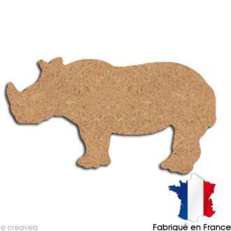Rhinocéros en bois 15 cm