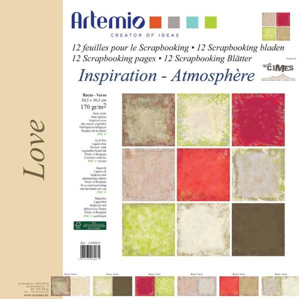 Papier scrapbooking Love ambiance - Set 12 papiers recto/verso 30,5 cm - Photo n°1