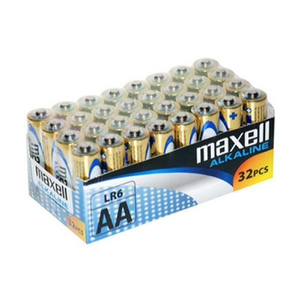 32 piles alcalines LR6 AA Maxell - Photo n°1