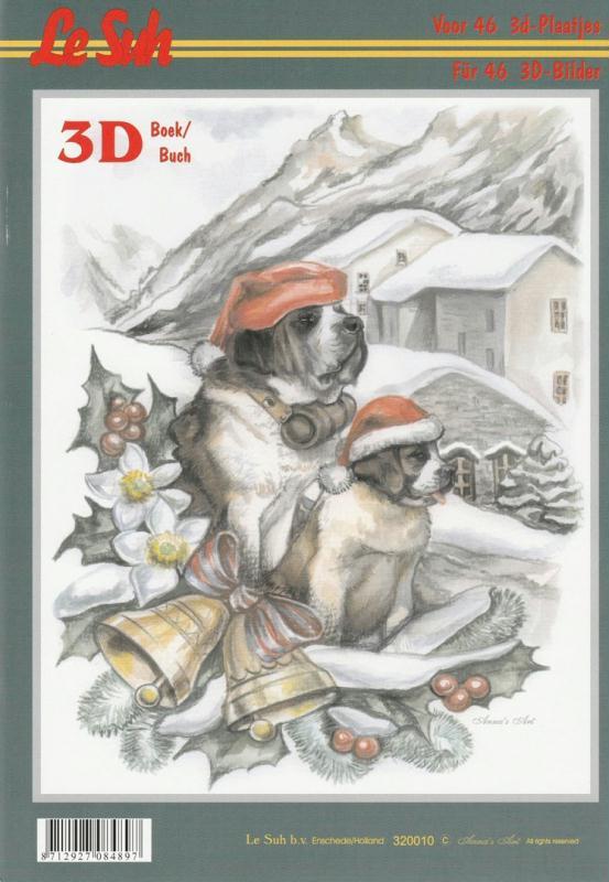 Bloc Livre 3D A4 à découper Noël Hiver - Photo n°1