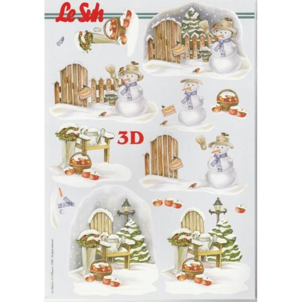 Bloc Livre 3D A4 à découper Noël Hiver - Photo n°2