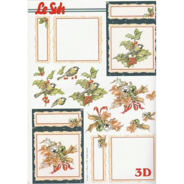 Bloc Livre 3D A4 à découper Noël Hiver - Photo n°3