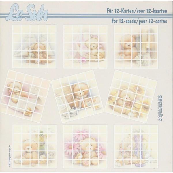 Livre Squares 3D 21x21 cm à découper Nounours - Photo n°1