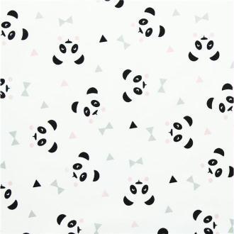 Tissu panda rose
