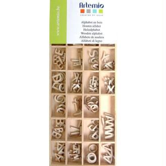 Mini alphabet en bois - boîte de 162 pièces