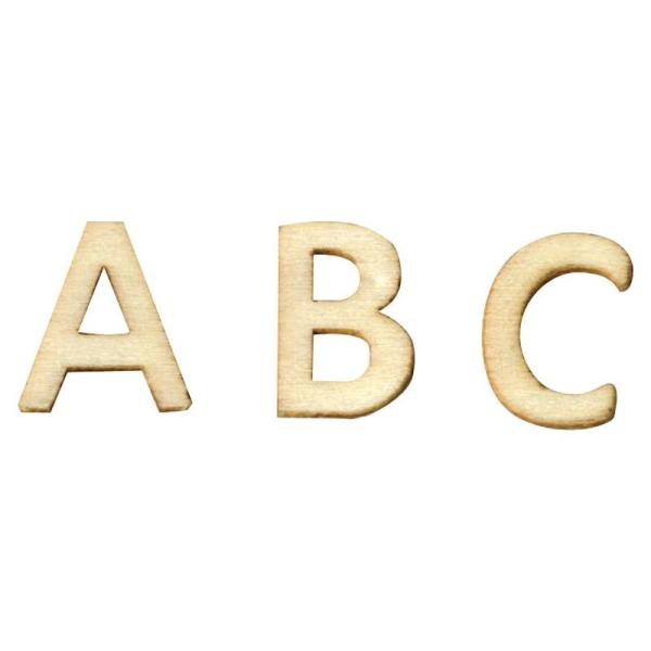 Mini lettre en bois - sachet de 162 pièces - Photo n°1