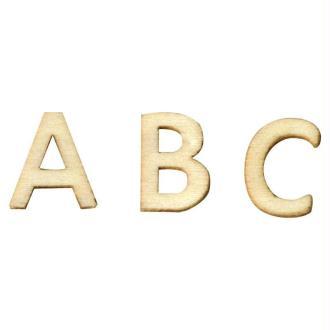 Mini lettre en bois - sachet de 162 pièces