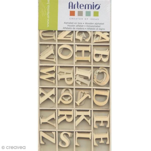 Alphabet en bois majuscules 3 cm - Photo n°1