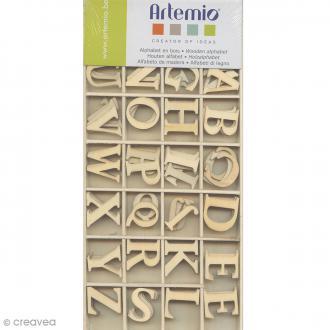Alphabet en bois majuscules 3 cm