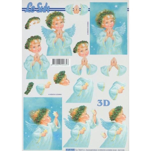 Feuille 3D à découper A4 Petit Ange - Photo n°1