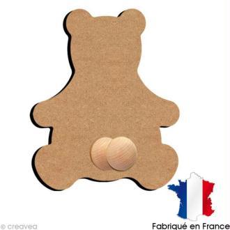 Porte manteaux ours 26 cm