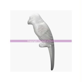 Perroquet en polystyrène, hauteur 25 cm