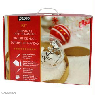 Kit création boules de Noël Pébéo