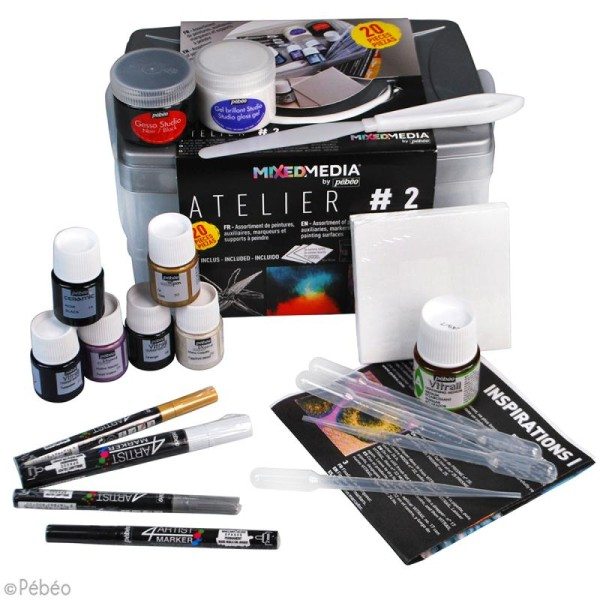 Coffret Atelier Mixed Media N°2 Pébéo - 20 pcs - Photo n°2
