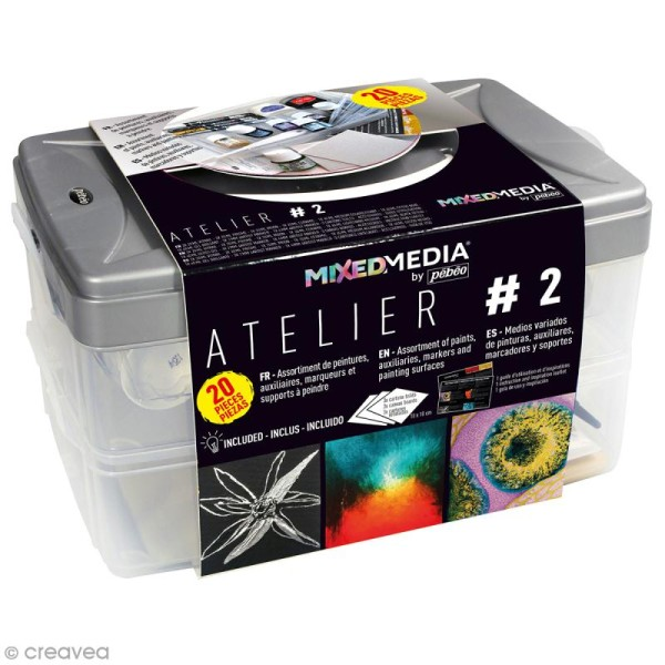 Coffret Atelier Mixed Media N°2 Pébéo - 20 pcs - Photo n°1