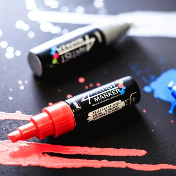 Set de 3 marqueurs à huile 4Artist Marker - Pointe biseautée - 8 mm - 3 coloris Basique - Photo n°2