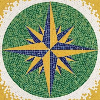 Kit mosaïque - Rose des vents  -  4 500 pièces