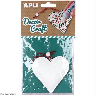 Coeur en fer à décorer APLI Decorcraft - 8 x 8 cm