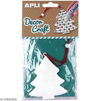 Sapin de Noël en fer à décorer APLI Decorcraft - 8 x 10 cm