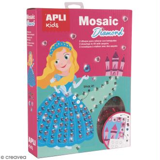 Kit mosaïque diamant APLI Kids - Princesse et licorne