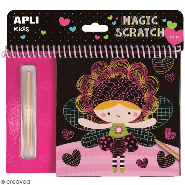 Livre cartes à gratter Magic Scratch APLI Kids - Fées - 8 pcs - Photo n°1
