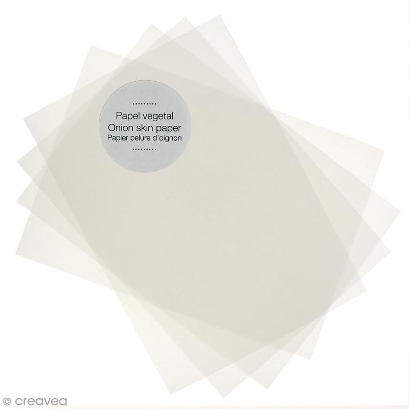 Lot de papier végétal A4 - Blanc translucide - 20 pcs - Photo n°1