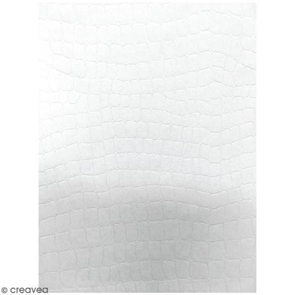 Lot de papier texturé A4 - Blanc - Serpent - 20 pcs - Photo n°1