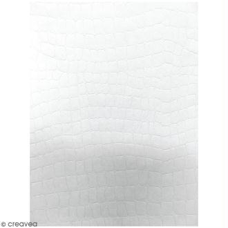 Lot de papier texturé A4 - Blanc - Serpent - 20 pcs
