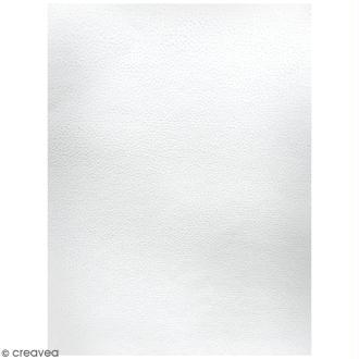 Lot de papier texturé A4 - Blanc - Petits points - 20 pcs