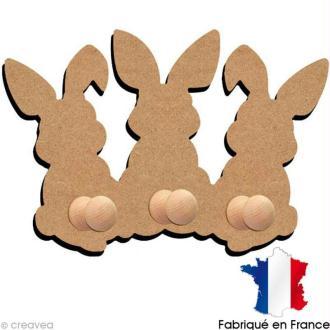 Porte manteaux lapins 26 cm