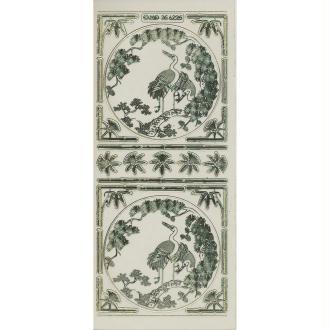 Transparent Stickers Double Embossage Oiseau Asie MD356225 doré
