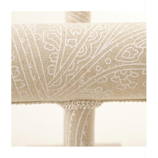 Porte bijoux pour bracelets tissu et galons Beige - Photo n°2