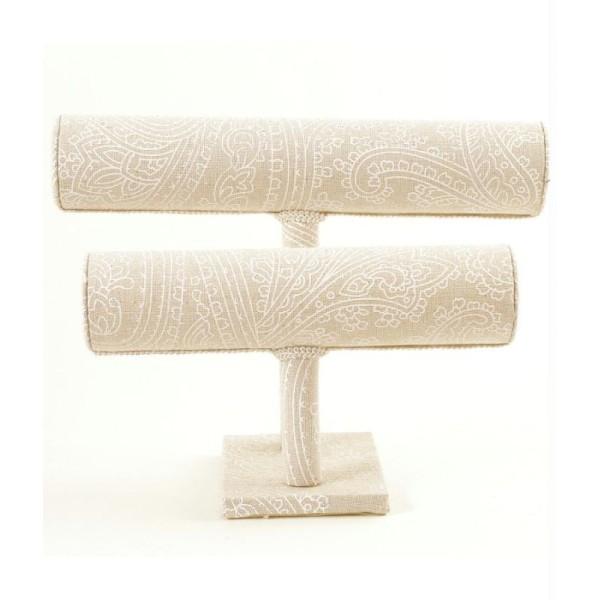 Porte bijoux pour bracelets tissu et galons Beige - Photo n°1