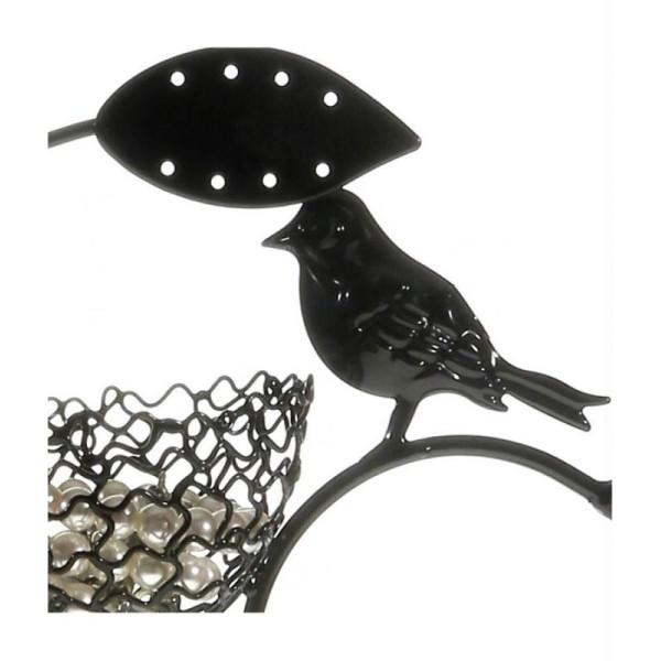 Porte bijoux arbre à boucle d'oreille piou piou (60 paires) Noir - Photo n°3